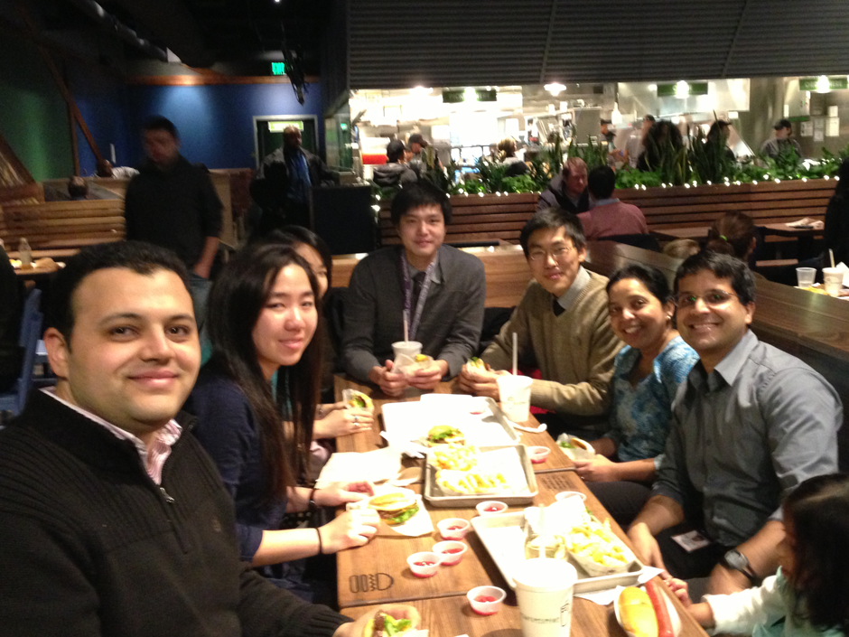 Fall 2012, Shake Shack - First Annual Shake Shack Bindra Lab Dinner.