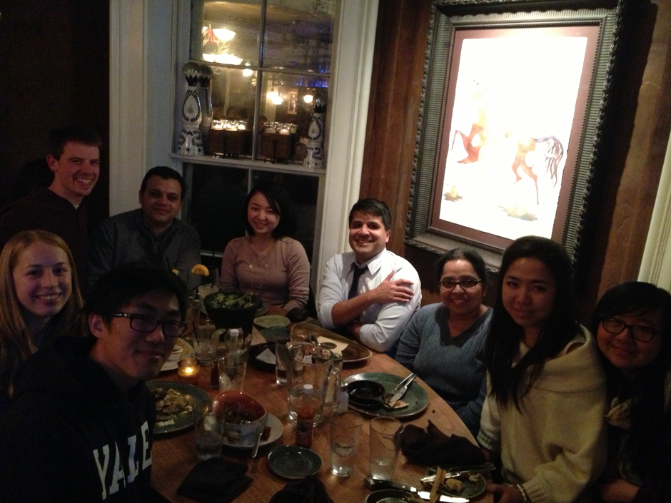 November 2013, Geronimo - Bindra Lab Dinner to welcome rotation student and new undergrad.